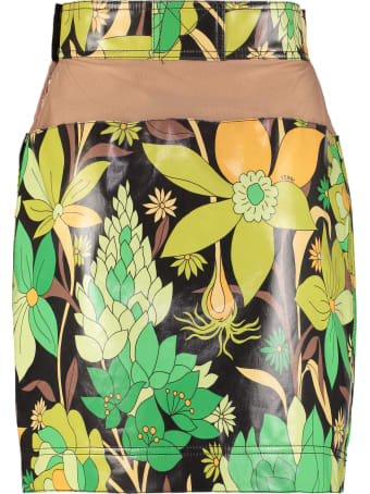 Fendi Printed Cotton Miniskirt