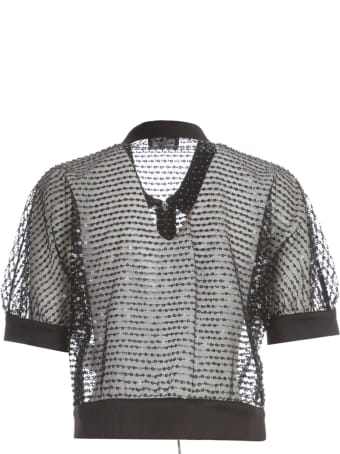 Emporio Armani Short Jacket S/s W/zip And Paillettes