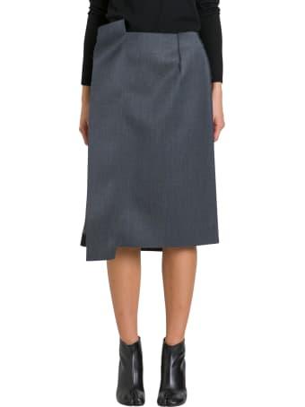 Maison Margiela Unfinished Pencil Skirt