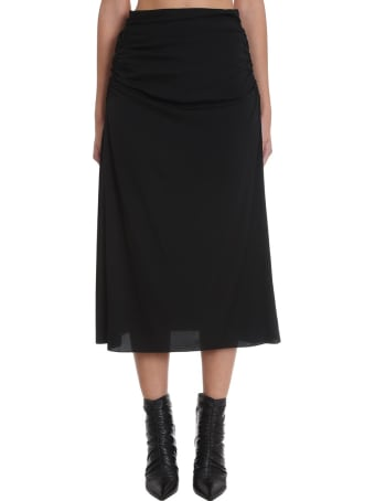 Theory Skirt In Black Silk