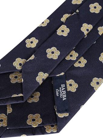 Barba Napoli Navy Blue Silk Tie