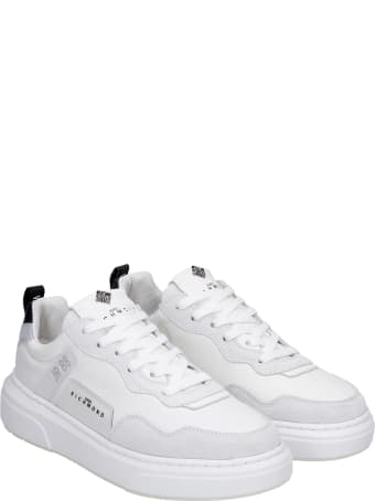 John Richmond Sneakers In White Suede And Leather