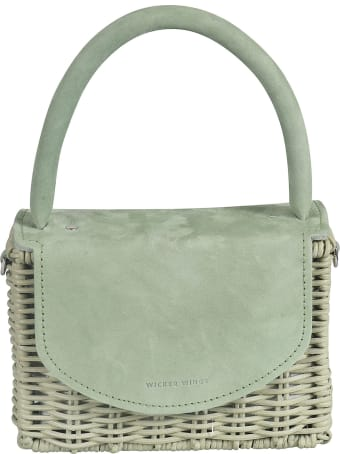 Wicker Wings Engraved Logo Weaved Tote