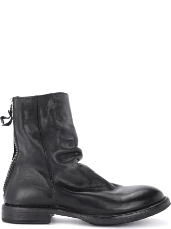 Moma Black Leather Ankle Boot
