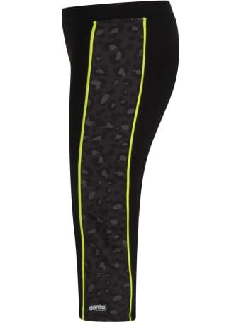 Dimensione Danza Black Leggings With Animalier Print For Girl