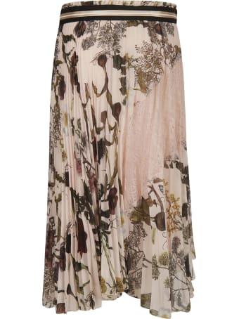 Ermanno Ermanno Scervino Floral Print Laced Detail Skirt