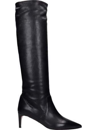 RED Valentino High Heels Boots In Black Leather