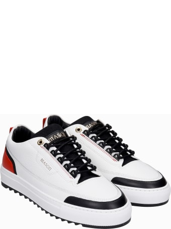 Mason Garments Firenze Sneakers In White Leather