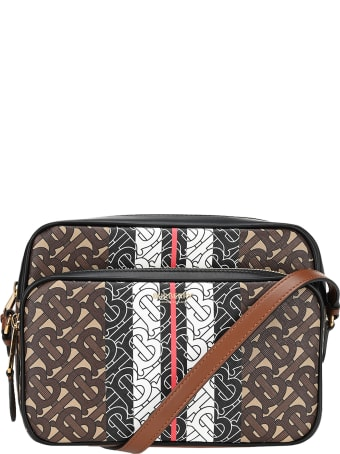 Burberry London Medium E-canvas Camera Bag With Monogram Striped Print