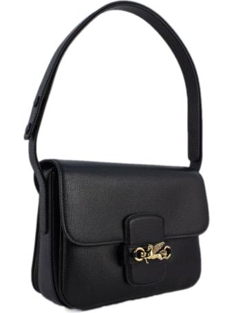 Etro Black Leather Shoulder Bag
