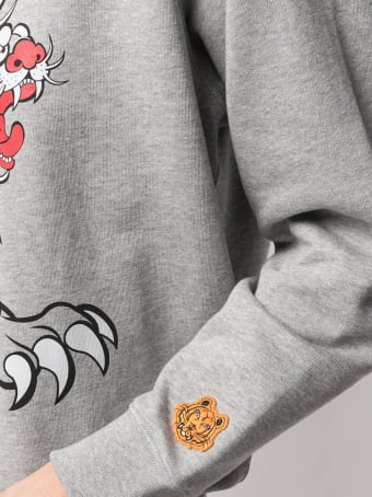 Kenzo Cotton Sweatshirt With Graphic Print