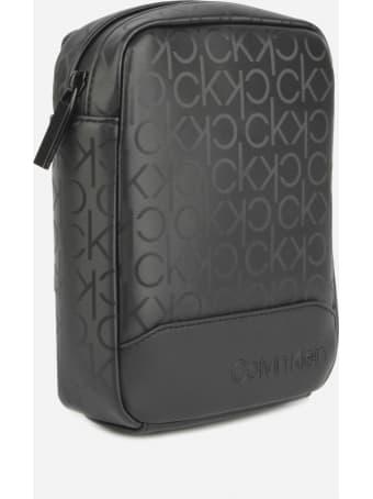 Calvin Klein Shoulder Bag With All-over Logo
