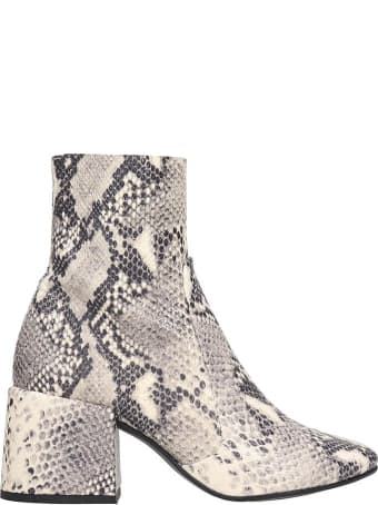 Jeffrey Campbell Ashcroft High Heels Ankle Boots In Animalier Leather