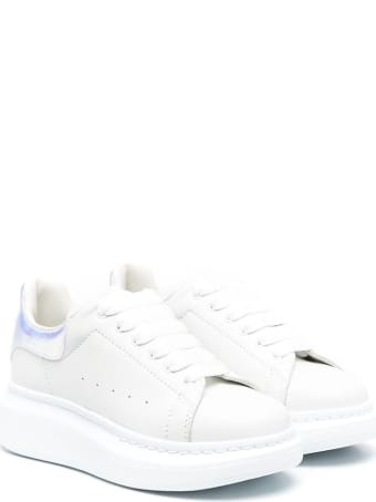 Alexander McQueen Oversize Leather Sneakers With Contrast Insert