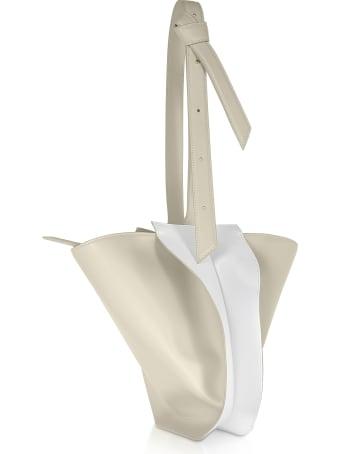Giaquinto Bloom Mini Egret White Shoulder Bag