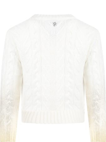 Dondup Ivory Sweater For Girl