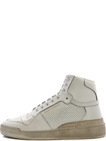 Saint Laurent High Sneakers White Leather