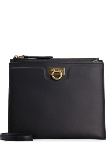 Salvatore Ferragamo Gancio Leather Crossbody Bag