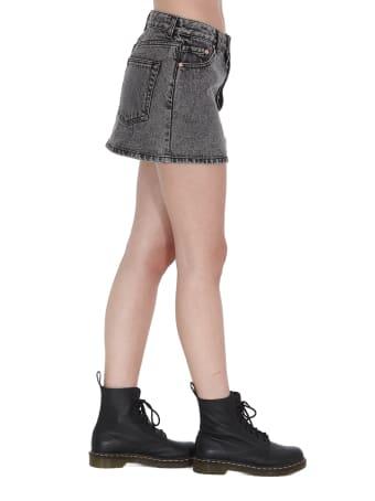 WE11 DONE Denim Mini Skirt