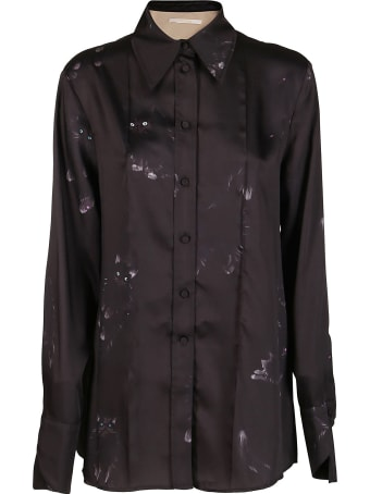 SSHEENA Black Satin Shirt