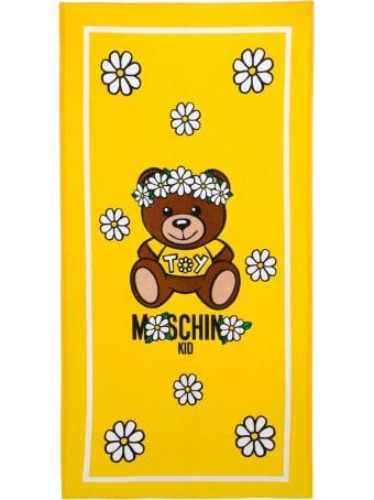 Moschino Yellow Cotton Towel