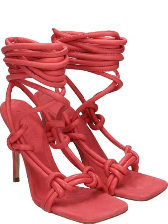 Elsa Pippilotta Sandals In Red Leather