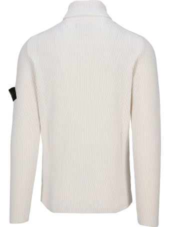 Stone Island High Neck Ribbed Knit Sweater
