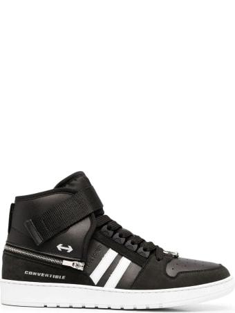 Neil Barrett Black Leather High Top Sneakers