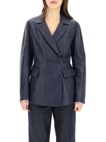SportMax Single-breasted Nappa Jacket