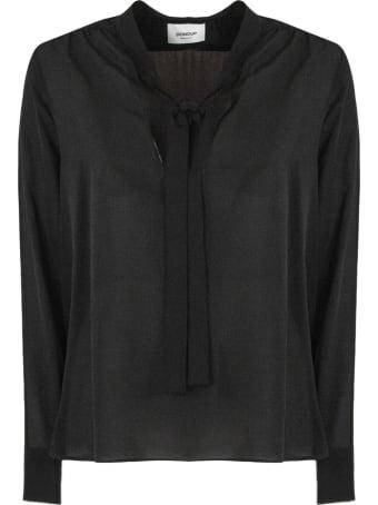 Dondup Black Silk Blend Shirt