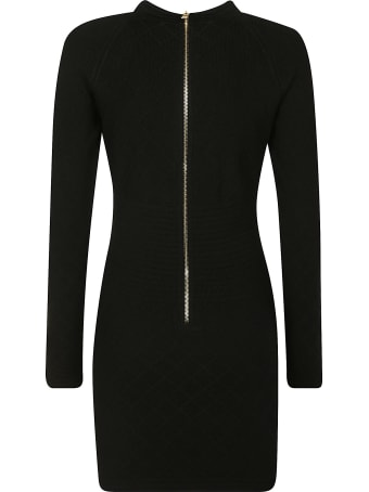 Balmain Button-embellished Dress