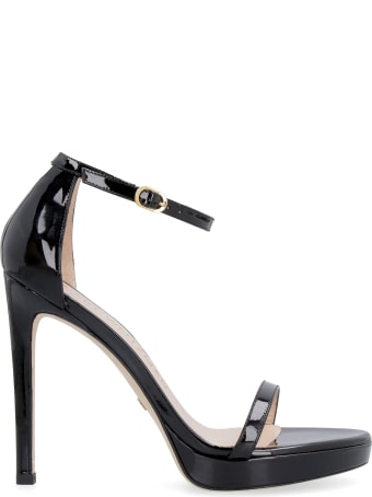 Stuart Weitzman Nudist Disco Patent Leather Sandals