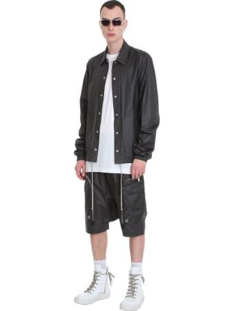 Rick Owens Bauhaus Snap Fr Shorts In Black Viscose