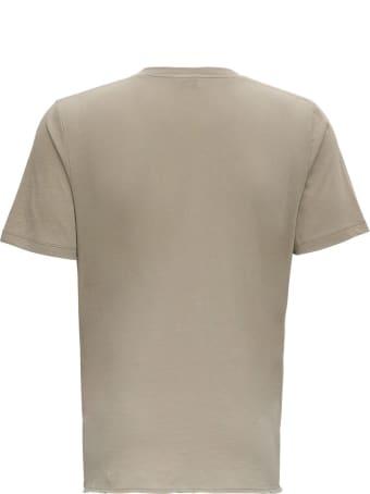 Saint Laurent Beige Jersey T-shirt With Logo Print
