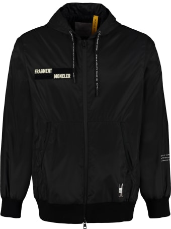 Moncler Rave Hooded Bomber-style Down Jacket