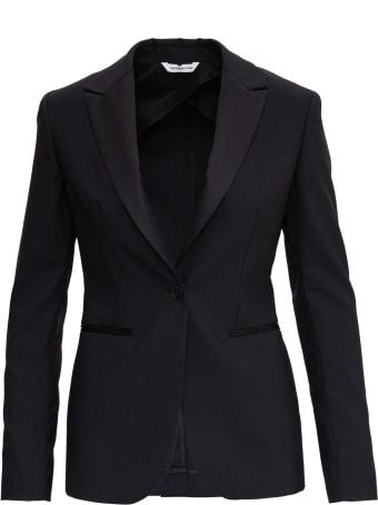 Tonello Single Breasted Black Blazer In Wool Blend