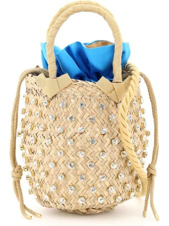 Le Niné Nina Small Basket Bag S2-00030 Crystal Satin