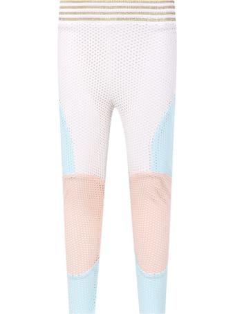 Raspberry Plum Color Block ''anna'' Leggings For Girl