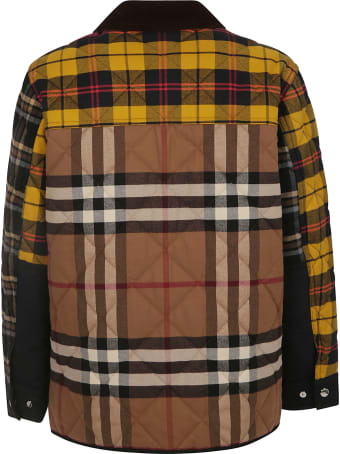 Burberry Check Buttoned Jacket