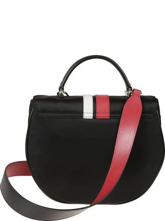 Furla Stripe Detail Flap Shoulder Bag