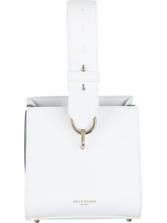 Sara Battaglia Virgi Bucket White Rainbow Bag