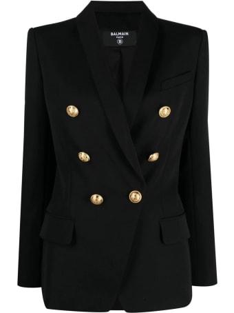 Balmain Black Virgin Wool Blazer