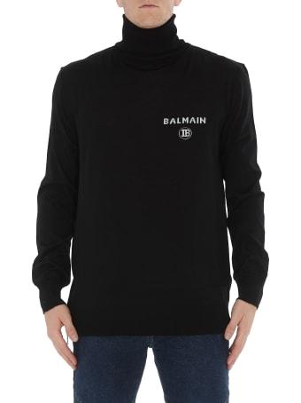 Balmain Zipped Sweater With Logo Balmain
