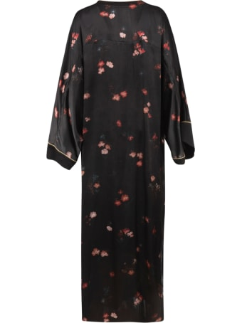 Max Mara Pianoforte Floral Print Long Dress