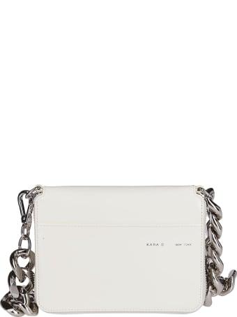 Kara White Leather Large Bike Wallet