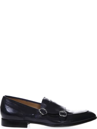 Green George Dark Blue Leather Loafers