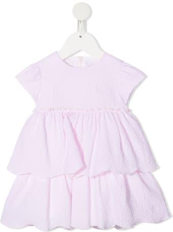 Il Gufo Jersey Lilac Flounce Dress