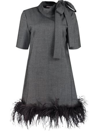 Parosh Pussy-bow Collar Dress