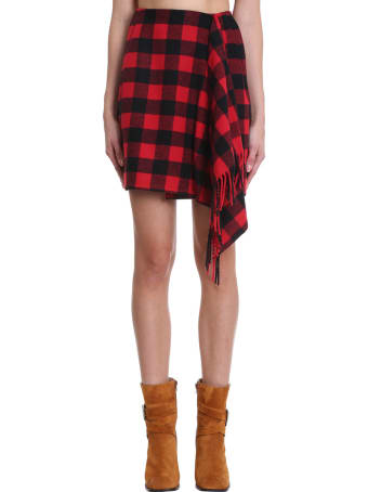 Tommy Hilfiger Skirt In Red Wool