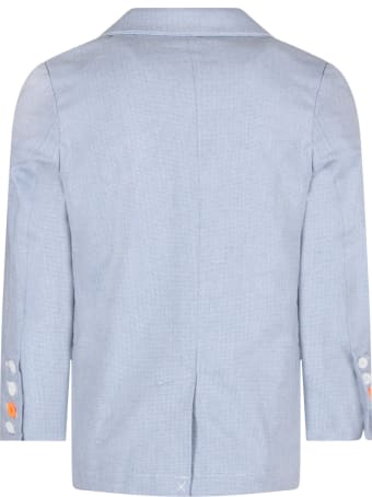 Billybandit Light Blue Jacket For Boy With Writing